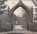 Mt Albion cemetery entrance arch, 1908.jpg
