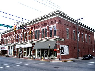 National Register of Historic Places listings in Delaware County, Indiana - Image: Muncie, IN Boyce Block