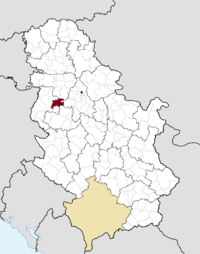 Location of the municipality of Vladimirci within Serbia