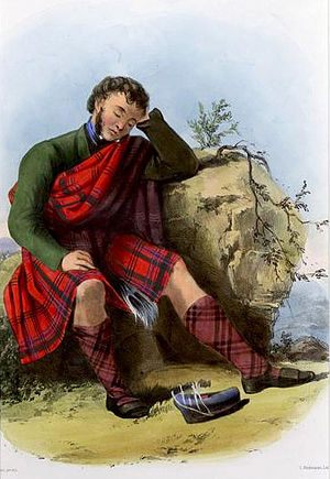 Clan Munro - A Victorian era, romanticised depiction of a member of the clan by R. R. McIan, from The Clans of the Scottish Highlands, published in 1845.