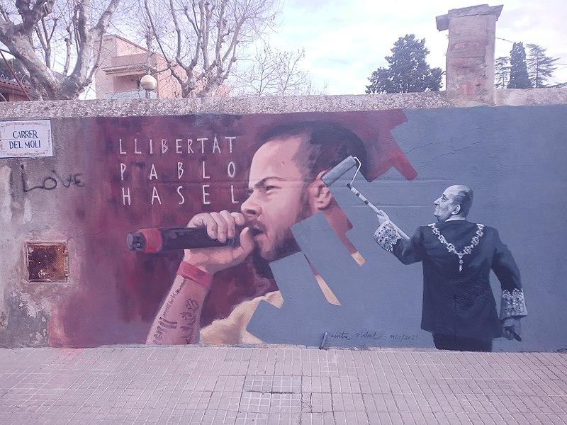 File:Mural Pablo Hasél a Cardedeu 01.jpg