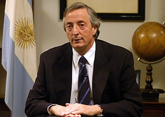 Secretary General of the Union of South American Nations - Image: Néstor Kirchner 20050402 Regimiento de Patricios (Argentina)