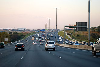 The M1 is a major freeway in Johannesburg N1 road South Africa.jpg