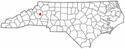 Location of Cajah's Mountain, North Carolina