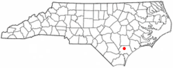 Location of Watha, North Carolina