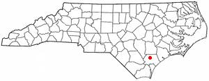 Watha, North Carolina - Image: NC Map doton Watha