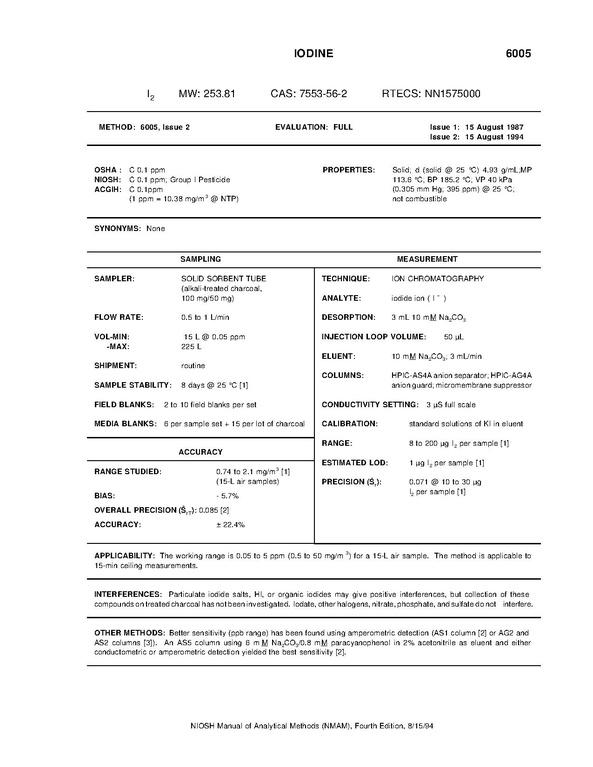 File:NIOSH Manual of Analytical Methods - 6005.pdf - Wikimedia Commons