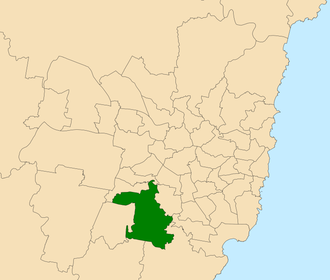 Electoral district of Holsworthy - Location within Sydney