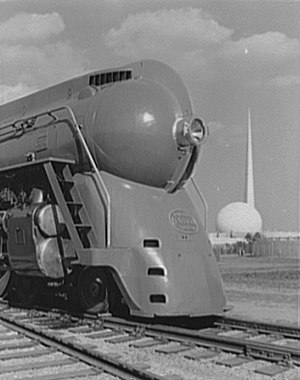 New York Central Hudson - Streamlined Hudson at the 1939 New York World's Fair