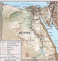 Загальна мапа єгипту