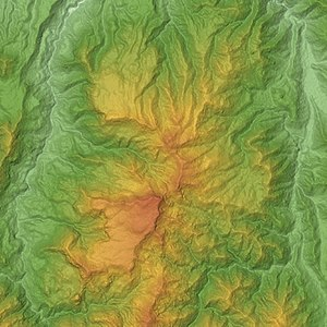 Mount Naeba - Relief Map of Naeba Volcano