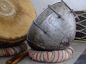 Naqareh - Dukar-Tikar, from Nagara genre, are kettledrums which accompany shehnai, an Indian woodwind instrument. Rajasthan.