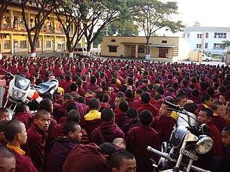 Penor Rinpoche - The monks of Namdroling Monastery in 2006.