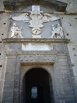 Castel Sant'Elmo - Entry Gate with Imperial Eagle.