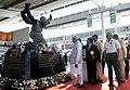 Narendra Modi arrives at the inauguration ceremony of New Integrated Terminal of Tirupati Airport, Andhra Pradesh. The Governor of Andhra Pradesh and Telangana, Shri E.S.L. Narasimhan, the Chief Minister of Andhra Pradesh.jpg