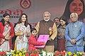 Narendra Modi launching the Sukanya Samridhi Account Scheme at the launch of the 'Beti Bachao, Beti Padhao' Programme, at Panipat, in Haryana. The Union Minister for Women and Child Development.jpg