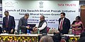 """Narendra Singh Tomar and the Chairman of Tata Trusts, Shri Ratan Tata at the launch of the """"Zila Swachh Bharat Preraks"""", one in each district, across the country, in New Delhi.jpg"""