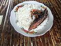 Nasi dan ikan Desa Sade Lombok.JPG
