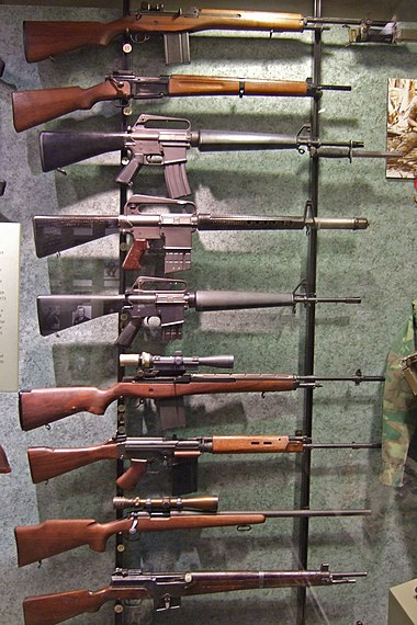 Weapons from vietnam and desert storm at the national firearms museum