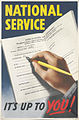 National Service - It's Up to You! Art.IWMPST13958.jpg