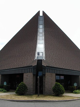 National Ski Hall of Fame - Front view of building