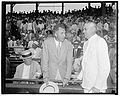 National and American League Presidents Ford Frick (NL left) and William Harridge (AL right) at Washington DC All-Star Game on July 9th 1937.jpg