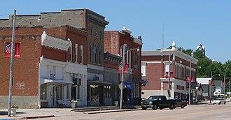 Nelson, Nebraska - Downtown, west side of Main Street, looking NW, 2010