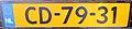 Netherlands diplomatic license plate CD-79-31.jpg
