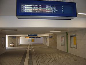 Ingolstadt Hauptbahnhof - The new platform underpass was put into operation on 31 August 2012