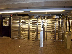 Access control - Underground entrance to the New York City Subway system
