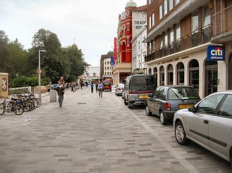 Shared space - A shared space scheme in New Road, Brighton (England)