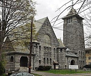 Central Congregational Church (Newton, Massachusetts) - Image: Newton MA Central Congregational Church
