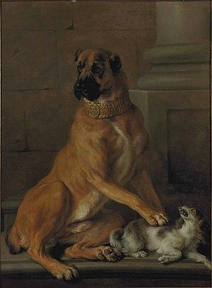 Nicasius Bernaerts - Portrait of Tambon, dog of the Duke of Vendôme