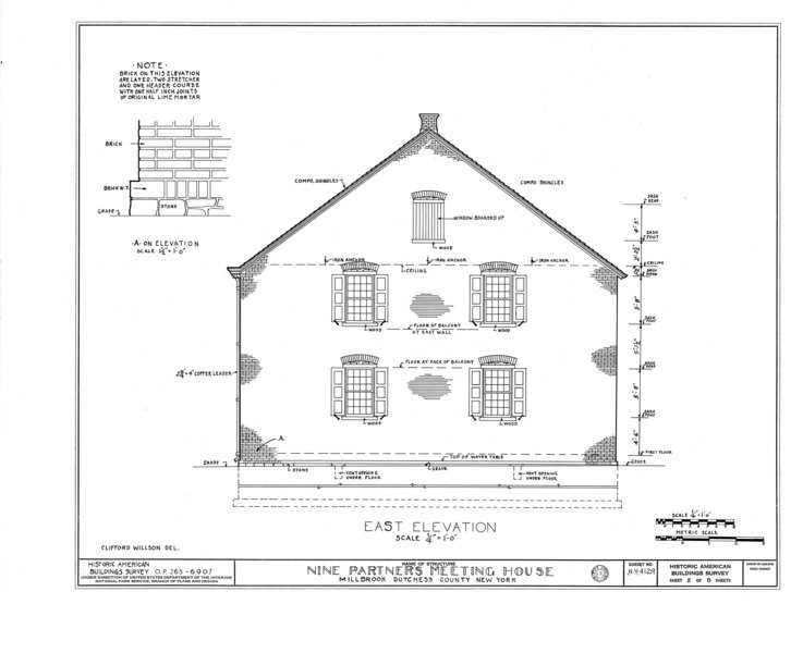 File:Nine Partners Meetinghouse, State Route 82 Vicinity, Millbrook, Dutchess County, NY HABS NY,14-MILB,1- (sheet 5 of 8).tif