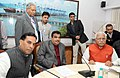 Nitin Gadkari meeting the Chief Minister of Haryana, Shri Manohar Lal Khattar to discuss the issues of Kundli-Manesar-Palwal, KMP Expressway and various NH and road issues in Haryana, in New Delhi on December 01, 2014.jpg
