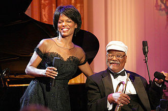Clark Terry - Terry performing at the White House with singer Nnenna Freelon in 2006