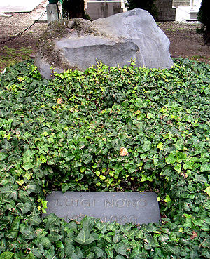 Luigi Nono - Grave of Nono in the San Michele Cemetery, Venice