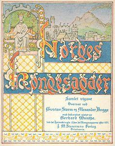 Norges kongesagaer-Tittelblad 1914-utgave-G. Munthe