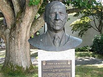 Norman MacKenzie (politician) - Sculpture on the University of British Columbia campus