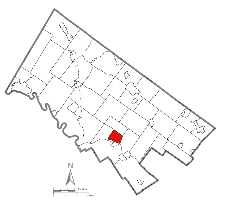 Location of Norristown in Montgomery County, Pennsylvania.