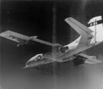 Northrop A9 in flight, backward view from the left side.png