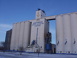 The Northwood grain elevators
