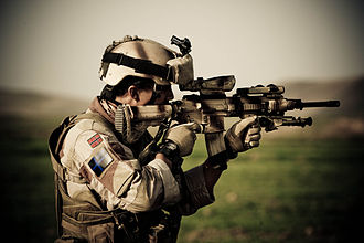 Heckler & Koch HK416 - A Norwegian soldier in Afghanistan, armed with the HK416N