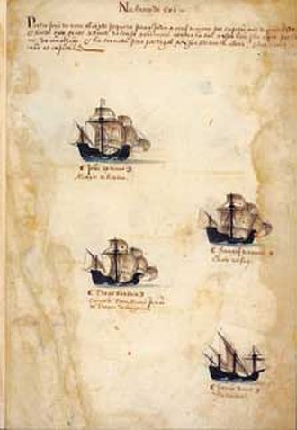 3rd Portuguese India Armada (Nova, 1501) - Fleet of the 3rd India Armada (Nova, 1501), from the Memória das Armadas