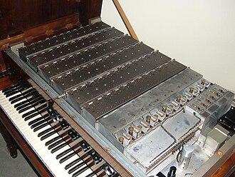 Novachord - The 12 master oscillator tuning chokes