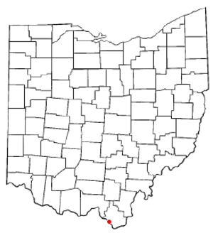 Coal Grove, Ohio - Image: OH Map doton Coal Grove
