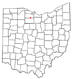 Location of Green Springs, Ohio