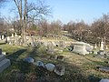 Oak Hill Cemetery in Evansville hillside looking down.jpg