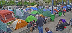 Occupy San Francisco - Tent City camp in Occupy San Francisco