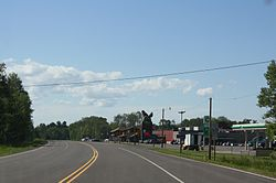Odanah on U.S. Route 2